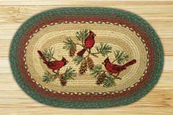 Cardinals Oval Patch Braided Rug