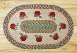 Apples Oval Patch Braided Rug