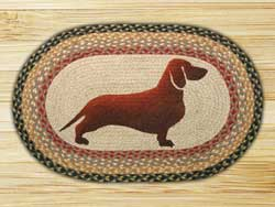 Dachshund Oval Patch Braided Rug