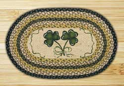 Shamrock Oval Patch Braided Rug