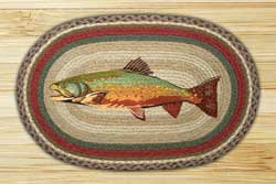 Trout Oval Patch Braided Rug