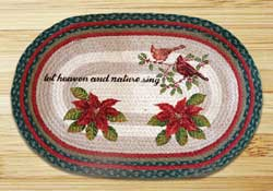 Woodland Christmas Oval Patch Braided Rug