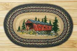 Covered Bridge Oval Patch Braided Rug