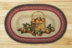 Apple Basket Oval Patch Braided Rug