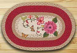 Petal Party Oval Patch Rug