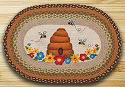 Bee Skep Oval Patch Rug