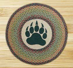 Bear Paw Round Braided Rug