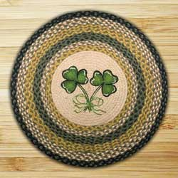 Shamrock Round Braided Rug