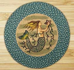 Mermaid Round Braided Rug