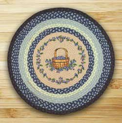 Blueberry Basket Round Braided Rug
