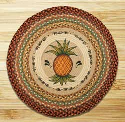 Pineapple Round Braided Rug
