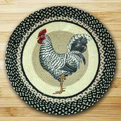 Rooster Round Braided Rug