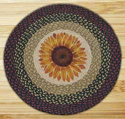 Sunflower Round Braided Rug