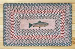 Fish Rectangle Braided Jute Rug