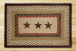 Barn Stars Rectangle Braided Jute Rug