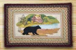 Cabin Bear Rectangle Braided Jute Rug