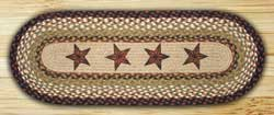 Barn Stars Braided Jute Tablerunner - 48 inch