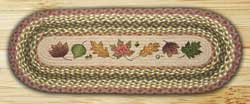 Autumn Leaves Braided Jute Tablerunner - 48 inch