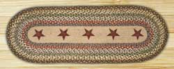 Gold Stars Braided Jute Table Runner - 36 inch