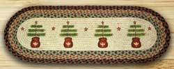Feather Tree Braided Jute Table Runner - 36 inch