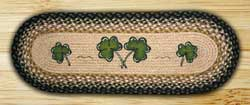 Shamrock Braided Jute Table Runner - 36 inch