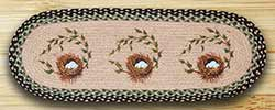 Robins Nest Braided Table Runner - 36 inch