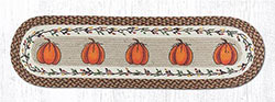 Harvest Pumpkin Braided Jute Tablerunner - 48 inch