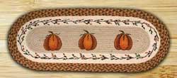 Harvest Pumpkin Braided Jute Tablerunner - 48 inch