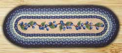 Blueberry Vine Braided Jute Tablerunner - 36 inch
