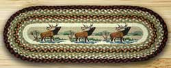Winter Elk Braided Jute Tablerunner - 36 inch