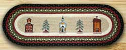 Winter Village Braided Jute Tablerunner - 36 inch