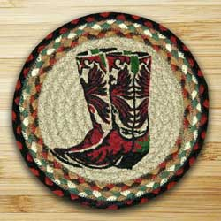 Boots Braided Jute Tablemat - Round (10 inch)