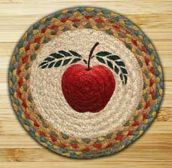 Apple Braided Jute Tablemat - Round (10 inch)