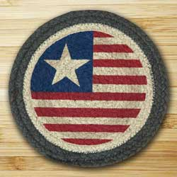 Original Flag Braided Jute Tablemat - Round (10 inch)