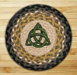 Irish Knot Braided Jute Tablemat - Round (10 inch)