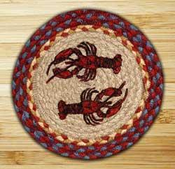 Lobster Braided Jute Tablemat - Round (10 inch)