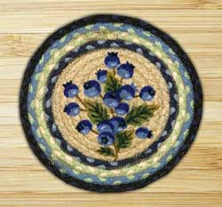 Blueberry Braided Jute Tablemat - Round (10 inch)