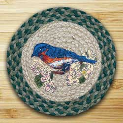 Blue Bird Braided Jute Tablemat - Round (10 inch)