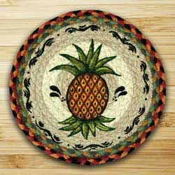 Pineapple Braided Jute Tablemat - Round (10 inch)