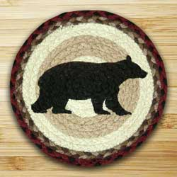 Cabin Bear Braided Jute Tablemat - Round (10 inch)