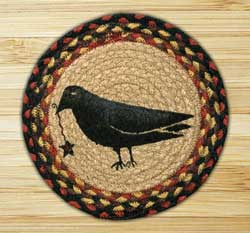 Crow & Star Braided Jute Tablemat - Round (10 inch)