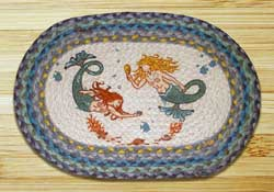 Mermaids Braided Jute Tablemat - Oval