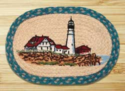 Portland Braided Jute Tablemat - Oval
