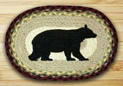 Cabin Bear Braided Jute Tablemat - Oval