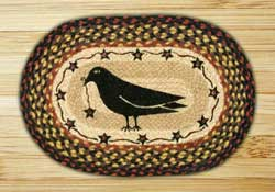 Crow & Star Braided Jute Tablemat - Oval