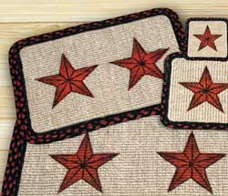 Barn Star Wicker Weave Coaster