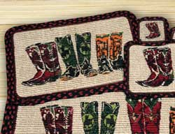 Boots Wicker Weave Coaster