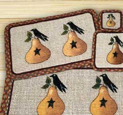Pear & Crow Wicker Weave Coaster