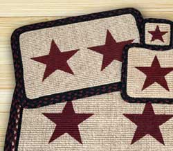 Burgundy Star Wicker Weave Placemat