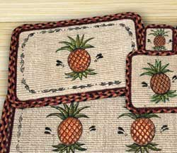 Pineapple Wicker Weave Coaster